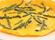 Wild asparagus frittata