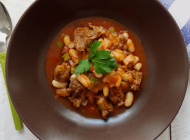 Lamb with white beans