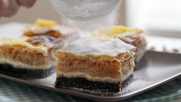 Međimurje gibanica (four filling layer cake) -