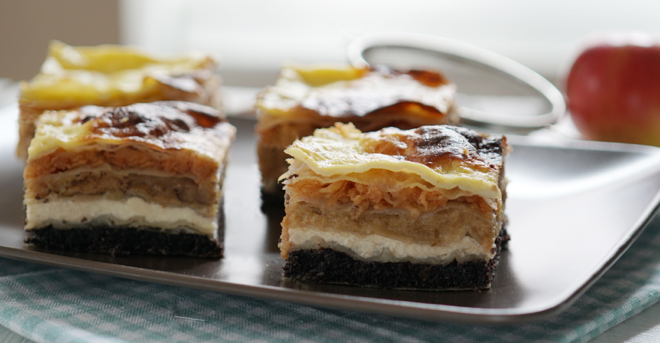Međimurje gibanica (four filling layer cake) -