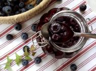 Blueberries with maraschino